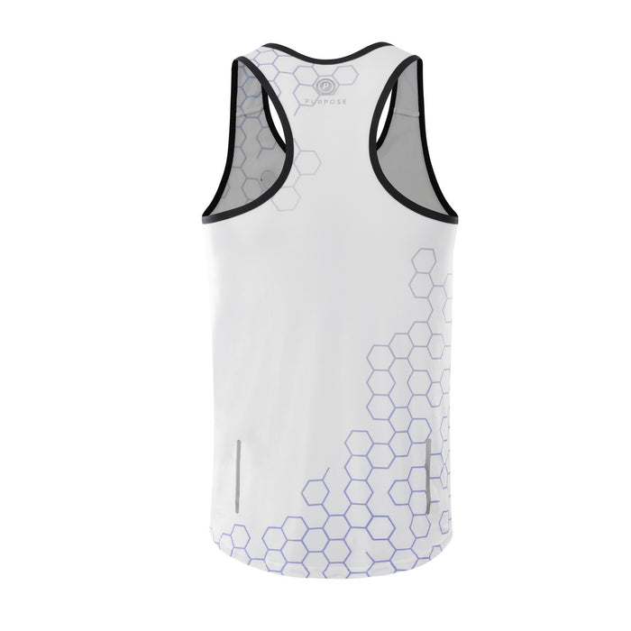 Purpose SFuels EndureIQ racing singlet for hot weather.  Back view