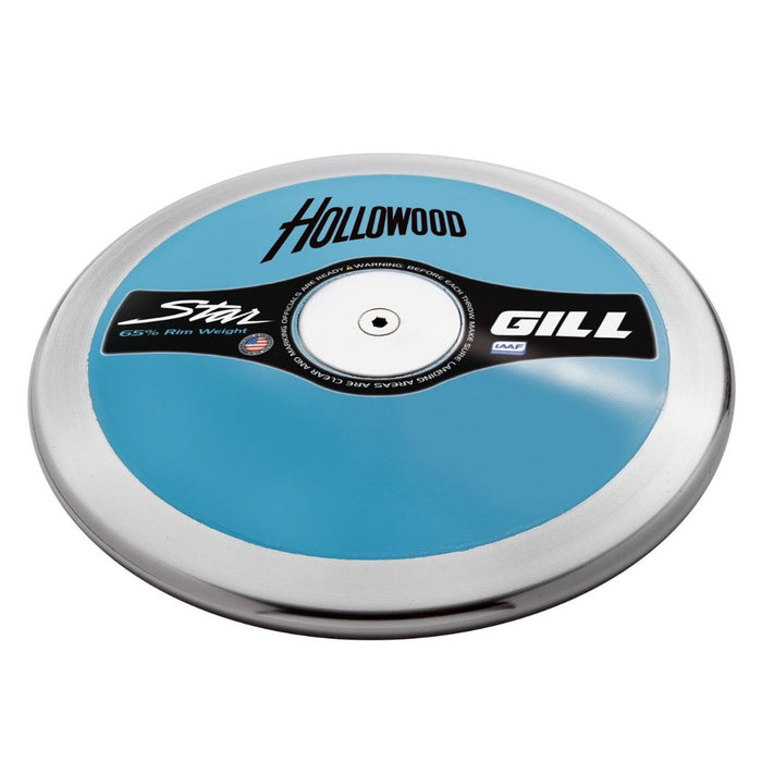 Gill Porter Hollowood Star Discus.  1kg or 2kg.  Blue plates with a steel rim