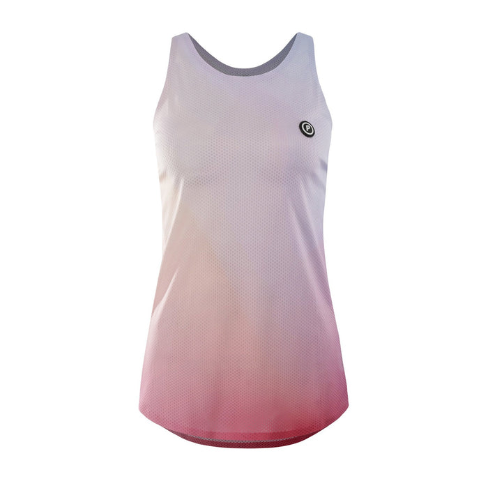 Purpose Pro Racerback Women's running vest for hot weather.  Joy Pink.  Front View