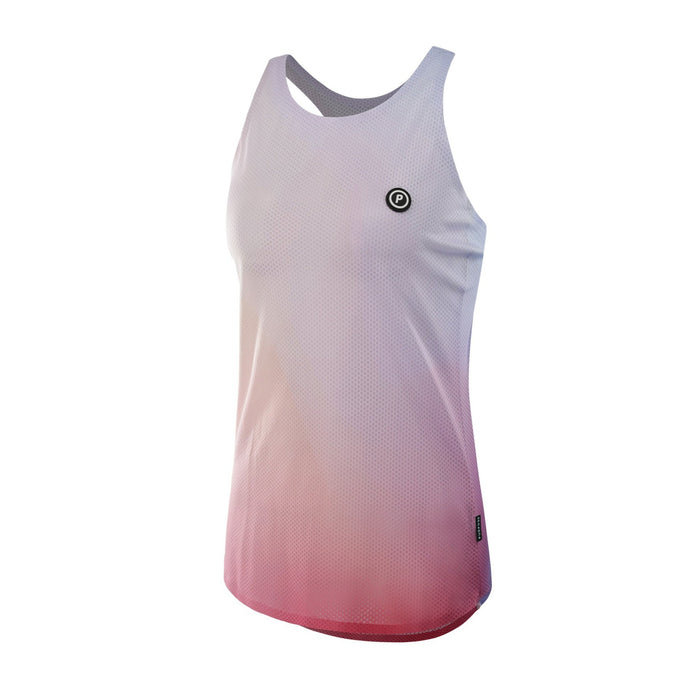 Purpose Pro Racerback Women's running vest for hot weather.  Joy Pink.  Side View