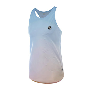 Purpose Pro Racerback Women's running vest for hot weather.  Tranquility Blue.  Side View