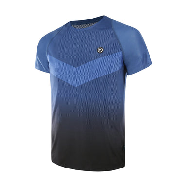 Purpose Pro Running T-Shirt for hot weather. Transcend blue. Side view