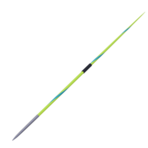 Nordic Valhalla Hard NXS 800g or 600g Javelin.  Yellow with turquoise spirals and dark grip