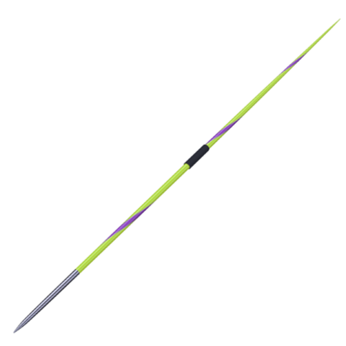 Nordic Valhalla Medium NXS Javelin. Yellow with purple twist and dark grip.  800g or 600g