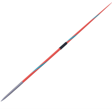 Nordic Valkyrie javelin in 800g or 600g.  Red with a turquoise twist and dark grip cord