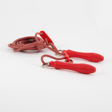 Adjustable rubber skipping rope