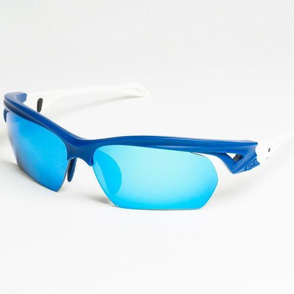 ND:R Sunglasses blue and white frame with blue lenses