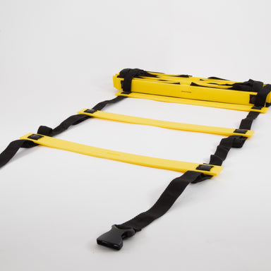 Footwork ladder for plyometrics and agility drills.  Adjustable rungs