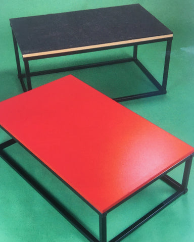 Plymetric boxes with either rubber-track surface or painted wooden surface
