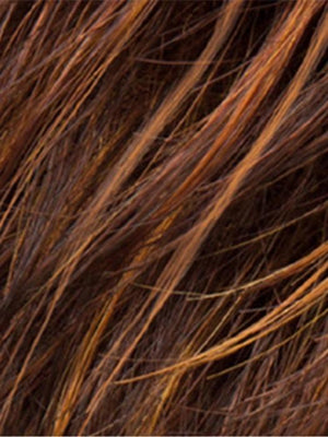 HAZELNUT MIX | Medium to Light Reddish Brown Blend with Light Auburn on top, with a Medium to Light Reddish Brown nape