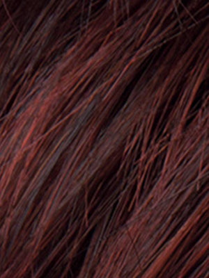AUBERGINE-MIX - 133.131 | Darkest Brown with hints of Plum at base and Bright Cherry Red and Dark Burgundy Highlights
