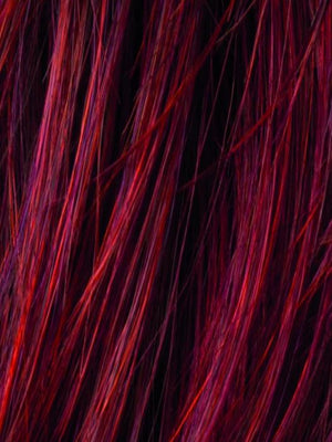 HOT FLAME ROOTED - 132.133.6 | Bright Cherry Red and Dark Burgundy mix with Dark Roots