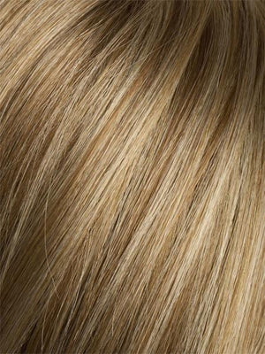 GINGER-ROOTED 26.27.19 | Light Honey Blonde, Light Auburn, and Medium Honey Blonde blend with Dark Roots