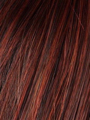 HOT-CHILLI-ROOTED 132.133.6 | Bright Copper Red and Medium Burgundy Red Blend with Medium to Dark Brown Roots