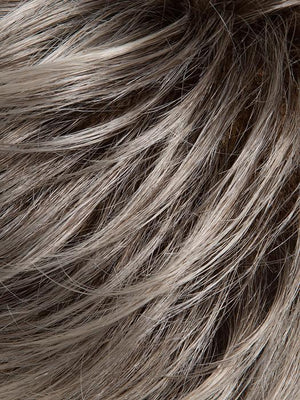 SILVER ROOTED | Light medium silver w/light browns blended w/cool platinum silver tones and pearl blonde tones