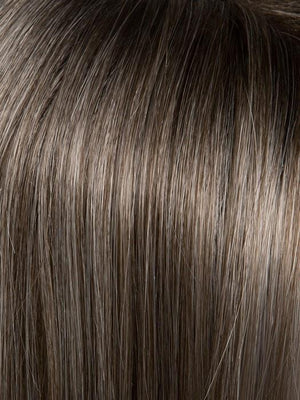 SALT/PEPPER-ROOTED 39.60.44 | Light Natural Brown with 75% Gray, Medium Brown with 70% Gray and Pure White Blend with Brown Roots