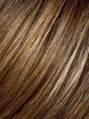 TOBACCO-MIX | Medium Brown base with Light Golden Blonde highlights and Light Auburn lowlights