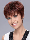 PIXIE by ELLEN WILLE in HOT FLAME ROOTED | Bright Cherry Red and Dark Burgundy mix with Dark Roots