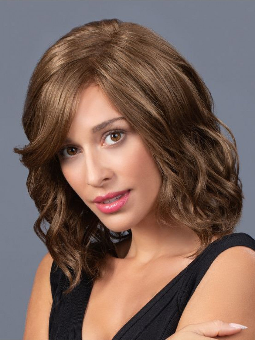 TRESSALLURE MID LENGTH BEACH WAVE LACE FRONT WIG