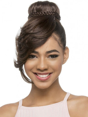 VIVICA FOX BANG AND BUN RENELL SYNTHETIC HAIRPIECE