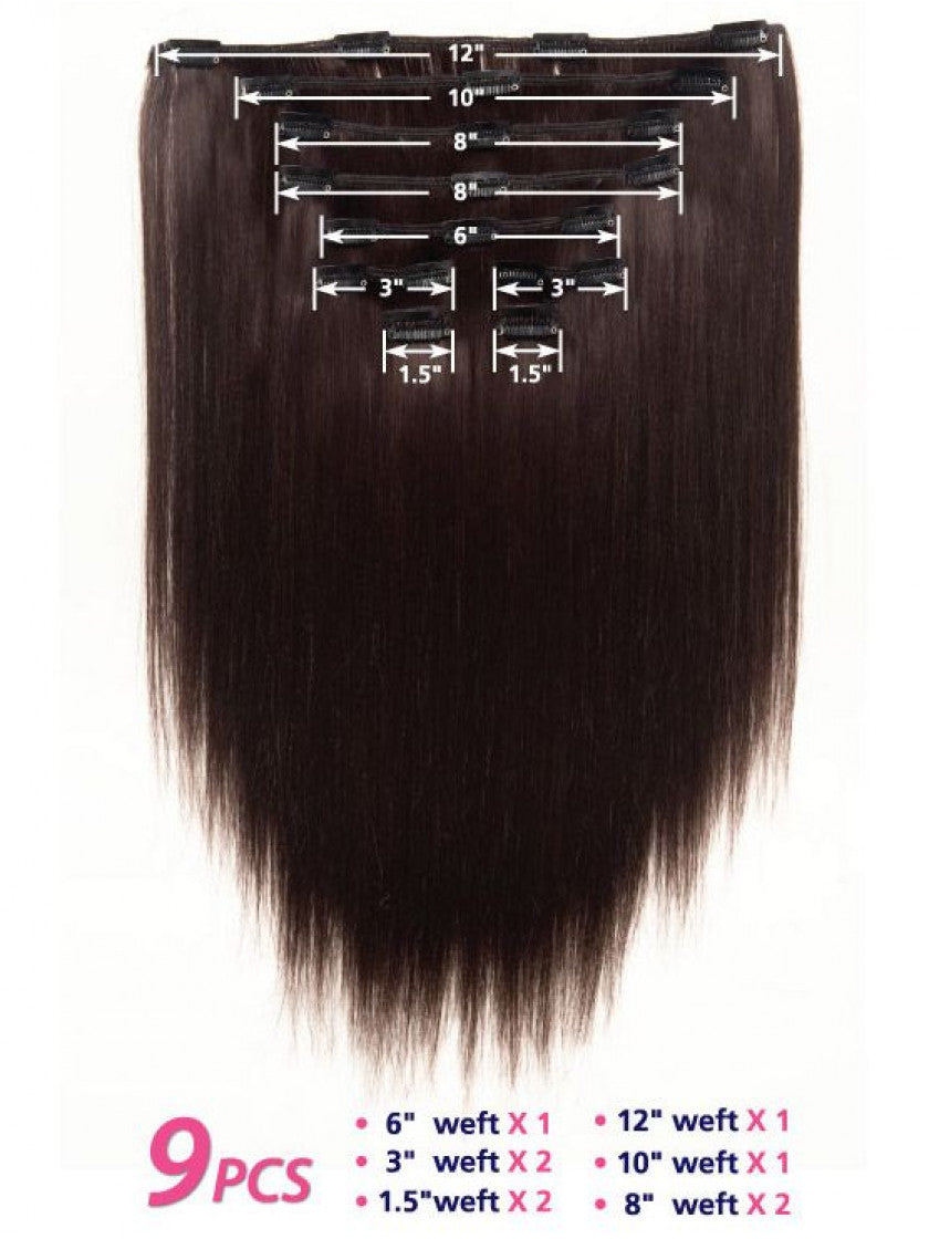 "VIVICA FOX 9 PIECE CLIP IN WEAVE 14"" SYNTHETIC EXTENSIONS"