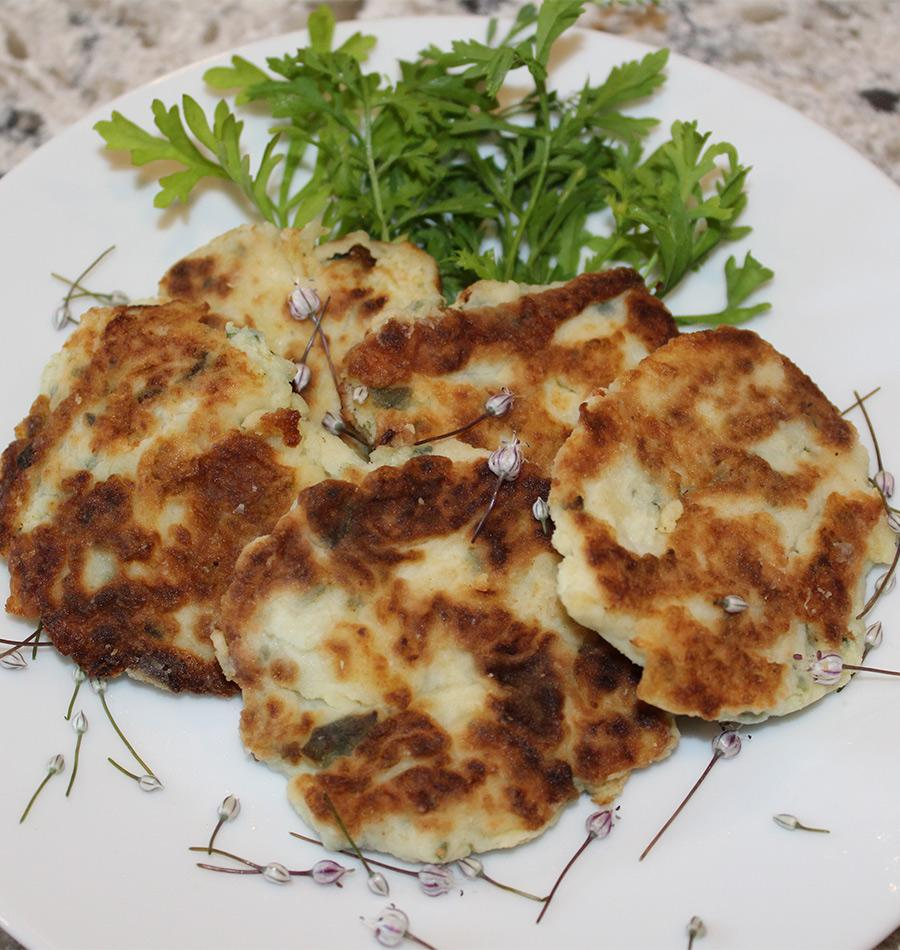 Kohlrabi and Potato Cakes