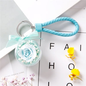 Everlasting Flower Keychain