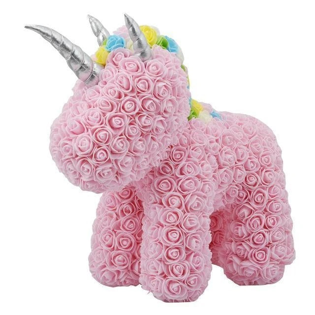 Unicorn Made of Roses (38cm)
