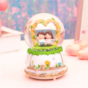 Lovers Musical Snow Globes Night Light Music Ball