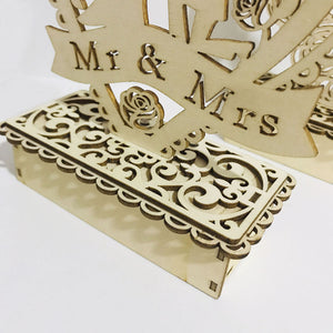 Wooden Mr&Mrs Wedding Ornaments