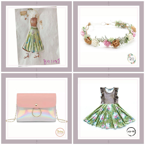 totes adorable, praire bloom, Bella the brave, just for littles