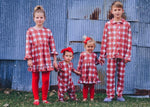 Load image into Gallery viewer, #4 Farmhouse Plaid 2-piece Button front pajama set Pajamas Just For Littles™