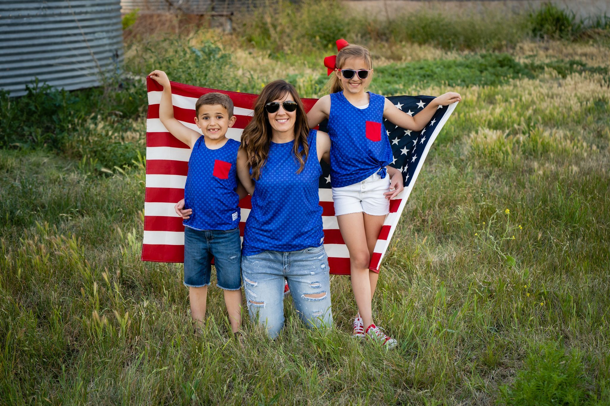#4th of July Adult Tank Shirt Just For Littles™