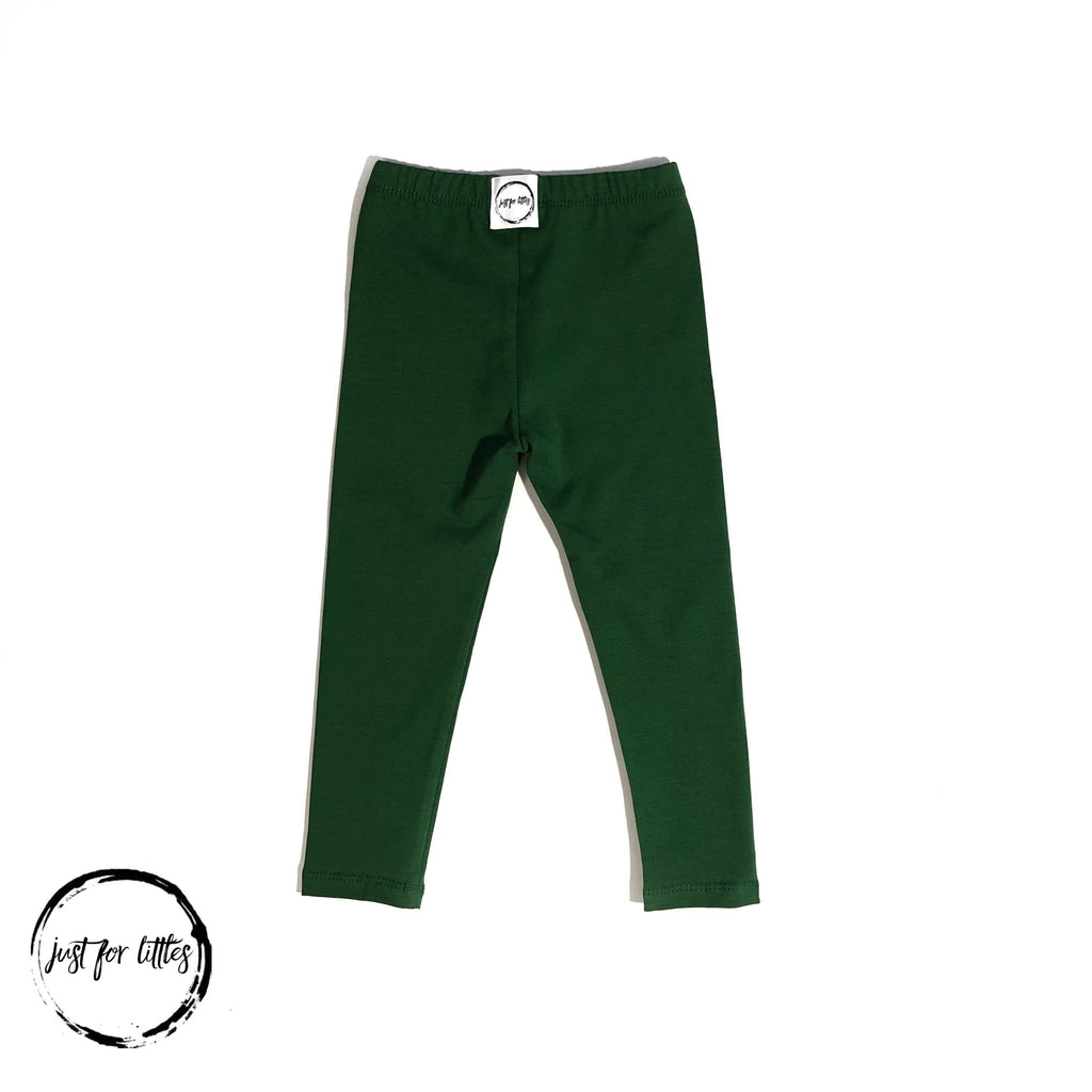 #92 Green Leggings Bottoms Just For Littles™