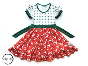 #93 Christmas Twirl Dress Dress Just For Littles