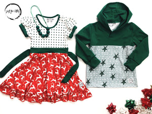 #96 Green Star Sweatshirt Shirt Just For Littles™
