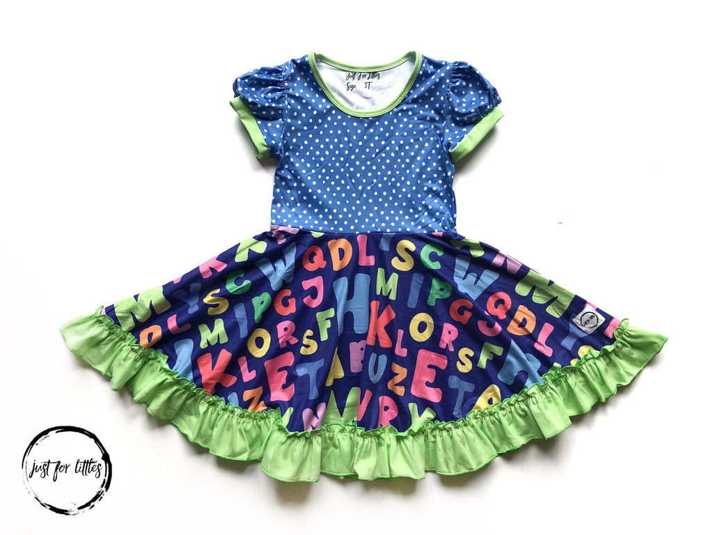 AAA ABC Twirl Dress Dress Just For Littles