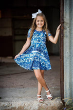 Load image into Gallery viewer, AAA Blue Tie Dye Twirl Just For Littles
