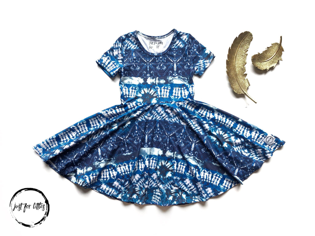 AAA Blue Tie Dye Twirl Just For Littles