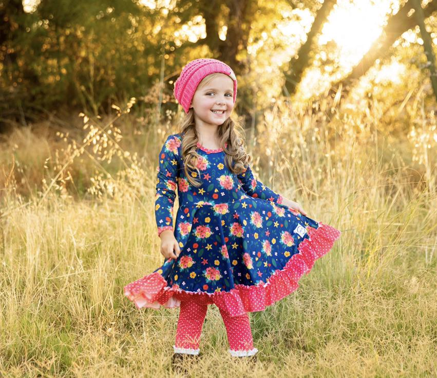 AAA Coral Polka Dot Leggings Just For Littles