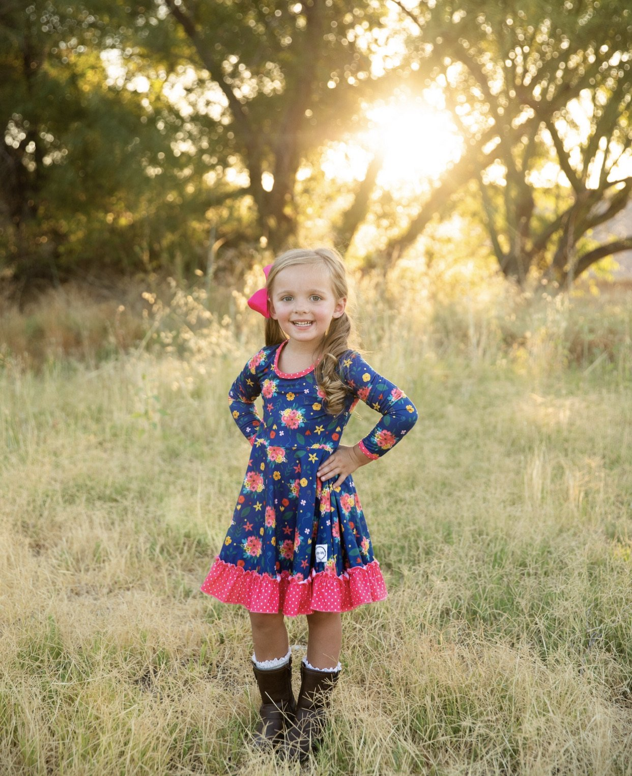 AAA Long Sleeve Floral Just For Littles