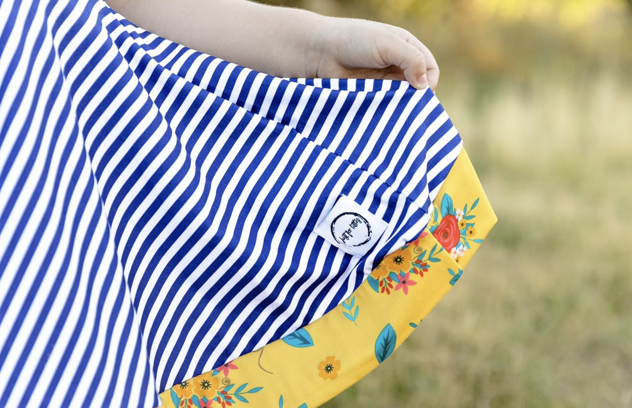 AAA Navy Stripe Twirl Just For Littles