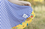 Load image into Gallery viewer, AAA Navy Stripe Twirl Just For Littles