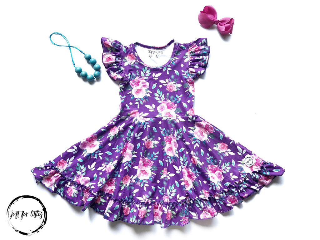 AAA Purple Floral Twirl Just For Littles