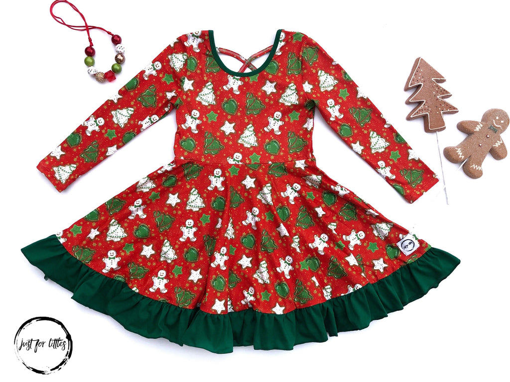 AAAA Holiday Cookie Twirl Dress Dress Just For Littles