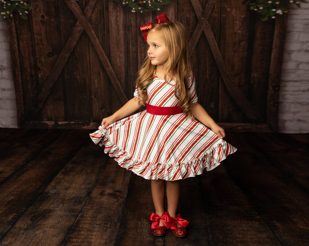 AAAA Peppermint Twist Holiday Fancy Dress Just For Littles™