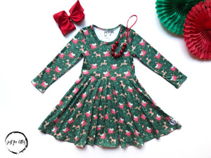 AAAA Reindeer Sleigh Dress Dress Just For Littles