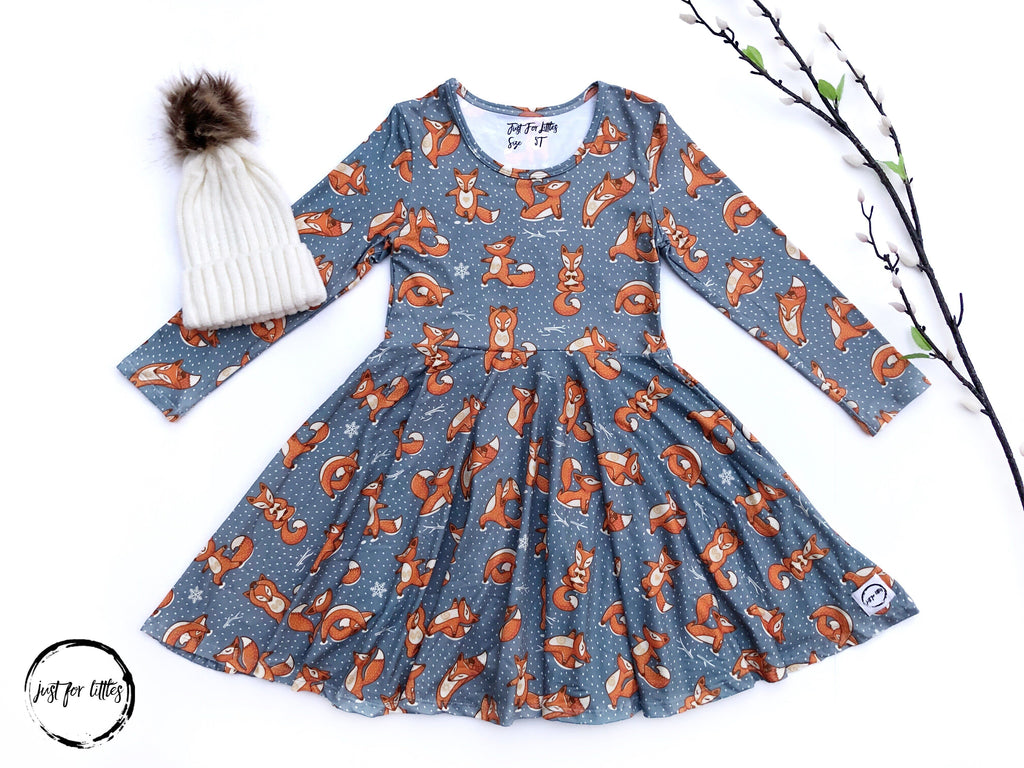 AAAA Yoga Fox Dress Just For Littles