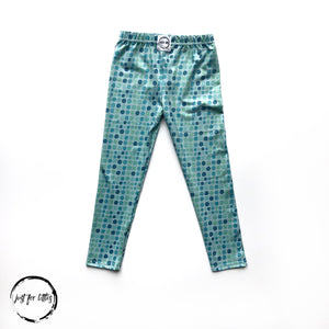 Aqua Dot Leggings Just For Littles