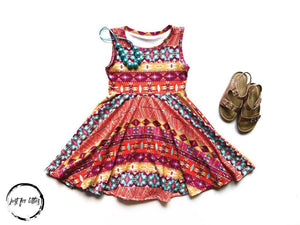 Aztec Twirl Dress Just For Littles